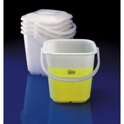 Bucket PE 14 L transparent graduation 500 ml up to 12 L