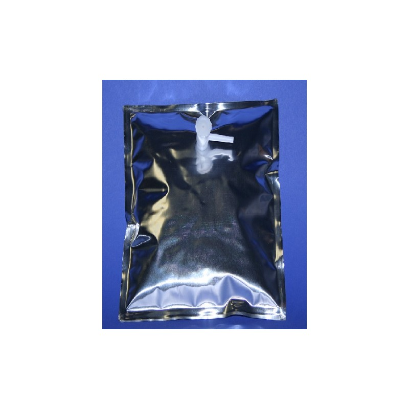 Gas sample bag 5L Multi-Layer Foil 30x30 cm screw cap Combo