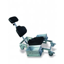 Overhead work chair WS1281 seat/backrest with Soft-PU black