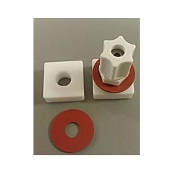 Worek na próbkę gazu 0,5L Tedlar 15x15 cm Teflon nut + PP Jaco