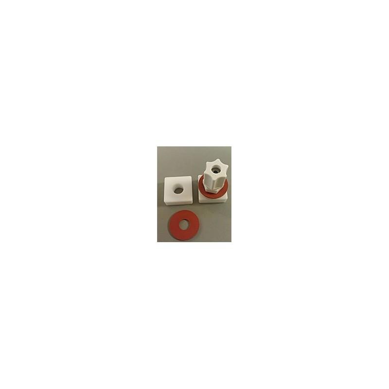 Gas sample bag 2L Tedlar 23x23 cm Teflon nut + PP Jaco valve