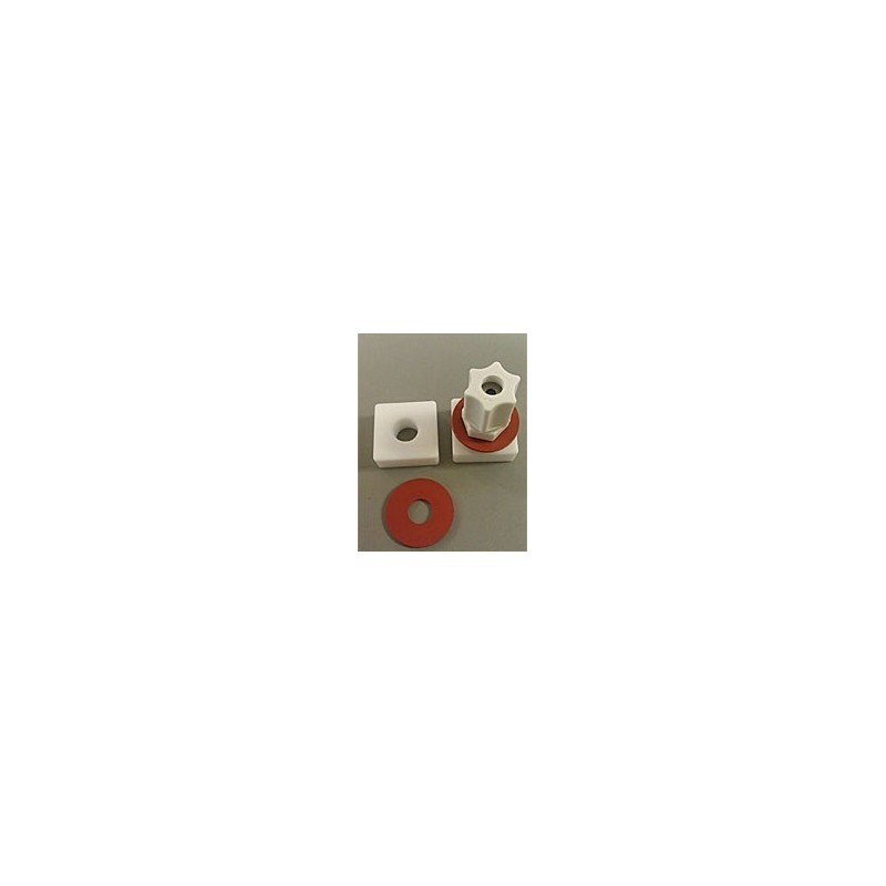 Gasprobenbeutel 2L Tedlar 23x23 cm Teflonscheibe+Jaco PP Ventil