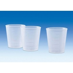 Measuring beaker 30 ml transparent raised scale pack 100 pcs.