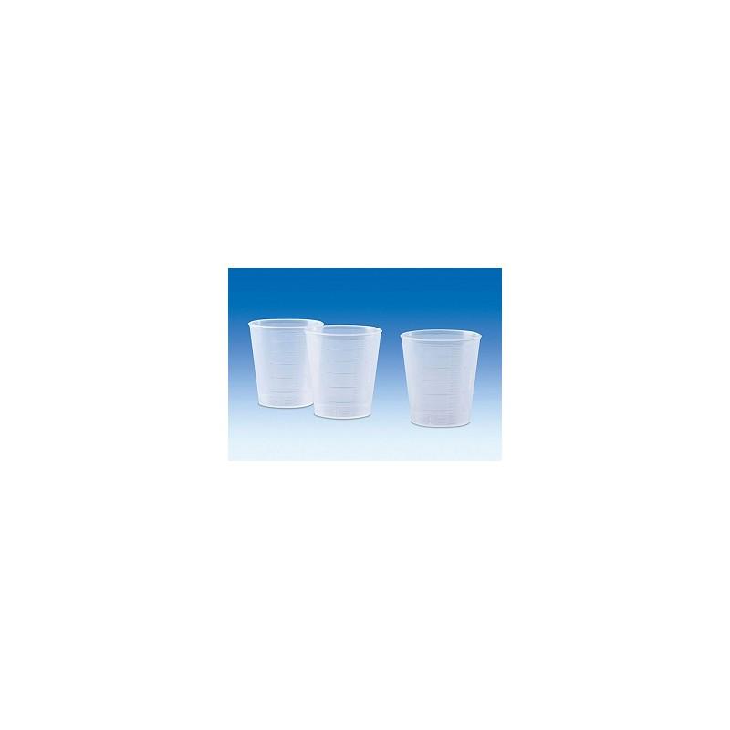 Massbecher 30 ml transparent mit erhabener Skala VE 100 St.