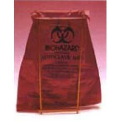 Disposal bag Biohazard PE 280x220 mm autoclavable pack 100