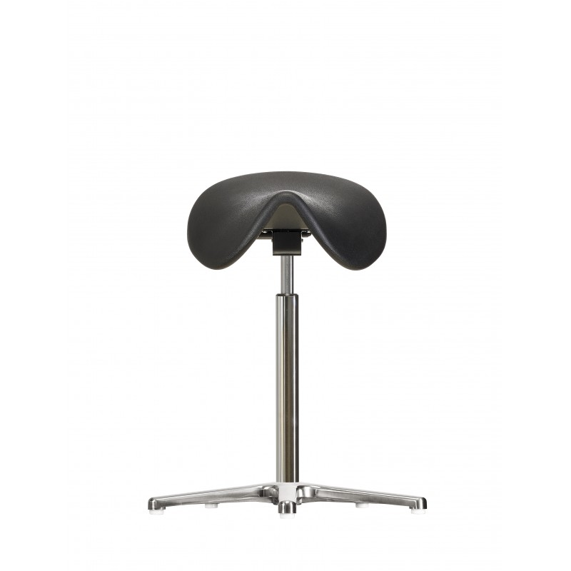 Saddle chair with glides WS 3511 PU Classic seat with Soft-PU