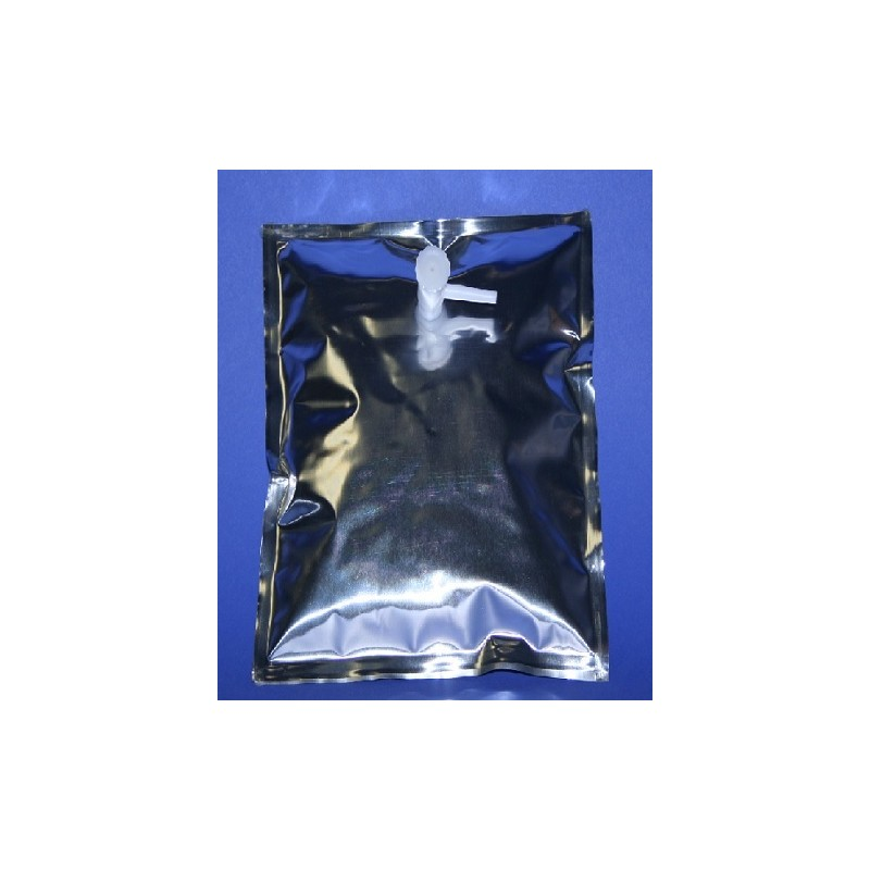 Gas sample bag 1L Multi-Layer Foil 18x18 cm screw cap Combo