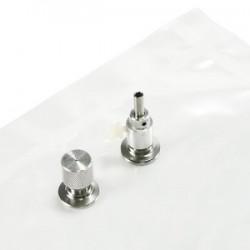 Gas sample bag 3L Tedlar Septum + 1 hose/valve steel pack 10