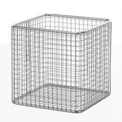 Basket 18/10 steel electrolytically LxWxH 120x120x110 mm