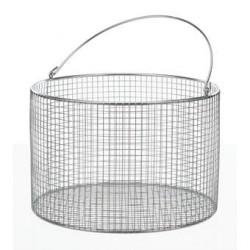 Drahtkorb mit Henkel Ø 80x100 mm 18/10 Stahl elektropoliert