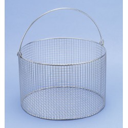Basket with handle Ø150x120 mm stainless steel