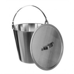 Bucket 18/10 Steel 8 L graduated without lid