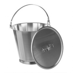 Bucket 18/10 Steel 15 L graduated without lid