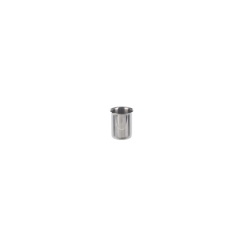 Beaker 500 ml stainless steel rim