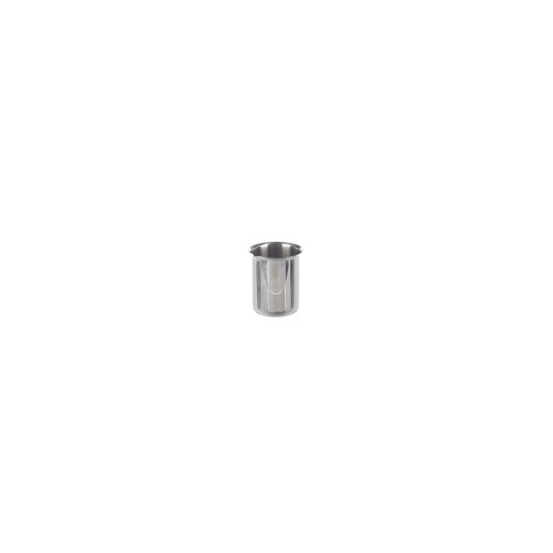 Beaker 100 ml stainless steel rim spout