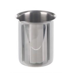 Beaker 3000 ml stainless steel rim spout
