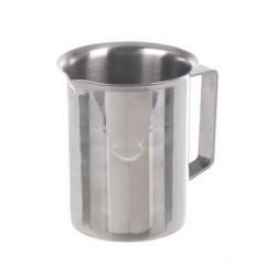 Beaker 100 ml stainless steel rim spout handle