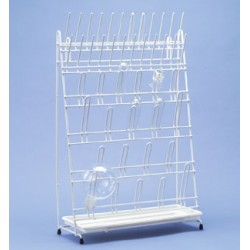 Draining rack with 24 rods and 20 arches PE-white LxWxH