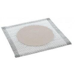 Wire gauzes with ceramic center LxW 150x150 mm Ø 100 mm