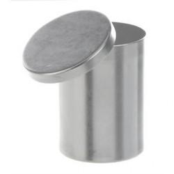 Dressing jar Aluminium 85x65 mm high shape