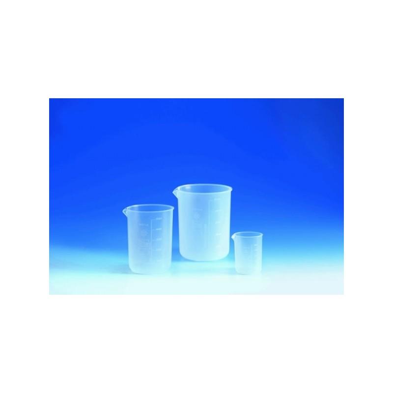 Becher 500:100 ml PFA Teilung erhaben Ausguss
