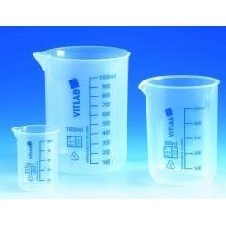 Griffinbecher 2000:200 ml PP Teilung blau Ausguss