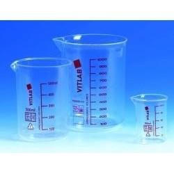 Griffin beaker 1000:100 ml PMP glass clear res graduation spout