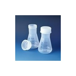Erlenmeyer flask 100 ml PP wide neck with screw cap NS 34/35
