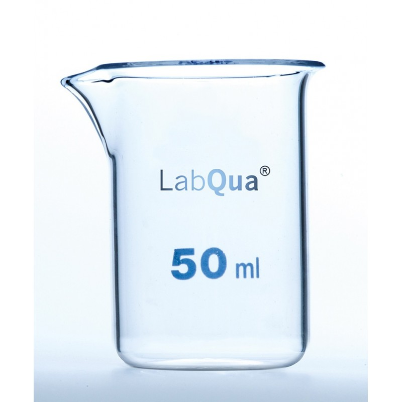 Becher 25 ml Quarzglas niedrige Forml Ausguss