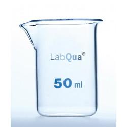 Zlewka 50 ml szkło kwarcowe niska forma wylew