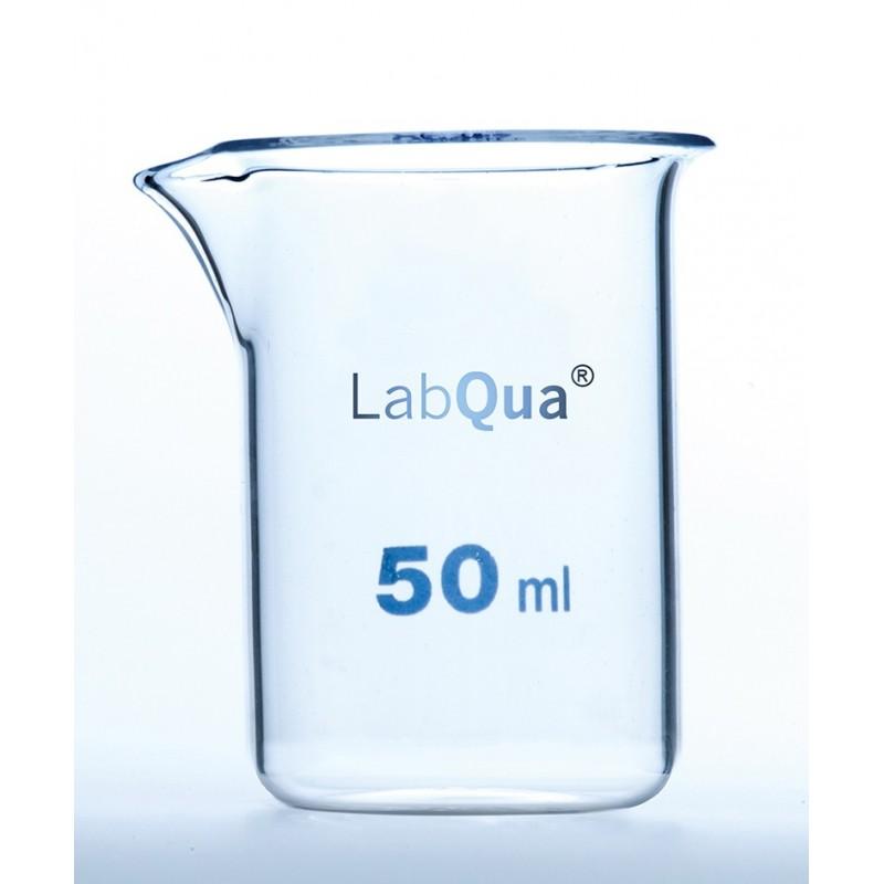Becher 50 ml Quarzglas niedrige Forml Ausguss