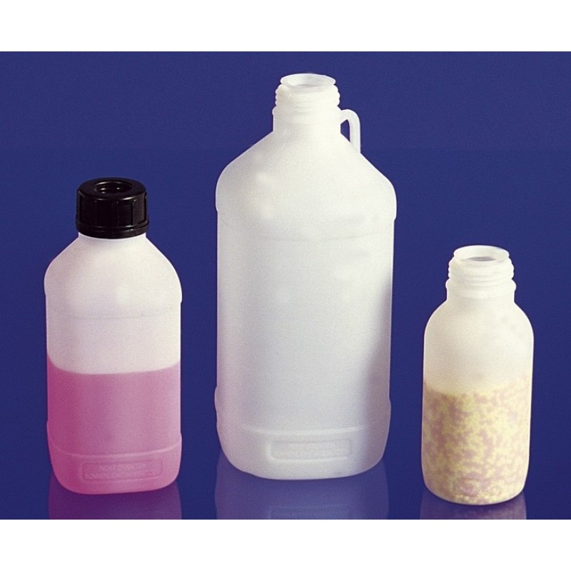Chemicals narrow neck bottle PE-HD 500 ml with screw cap