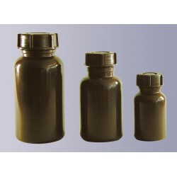 Weithalsflasche PE-LD 100 ml braun ohne Verschluss GL 32