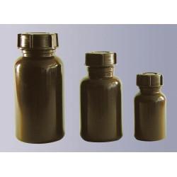 Weithalsflasche PE-LD 250 ml braun ohne Verschluss GL 40