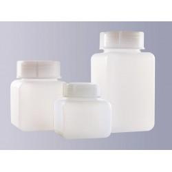 Butelka czworokątna szerokoszyjna PE-HD 500 ml bez zakrętki GL