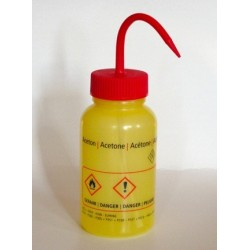 "Safety was bottle ""Aceton"" 500 ml PE-LD wide mouth yellow red"
