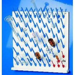 Abtropfbrett mit Ablaufrinne und Aufsteckstäbchen LxB 50x50 cm