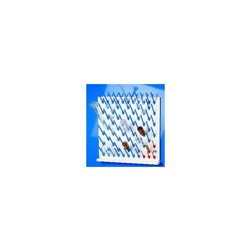 Abtropfbrett mit Ablaufrinne und Aufsteckstäbchen LxB 60x60 cm