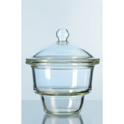 Exsikkator Glas Nenngröße 100 mm Unterteil Planflansch ohne Nut