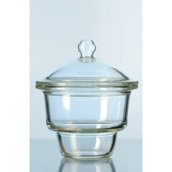 Desiccator glass 150 mm base flat flage without notes with knob