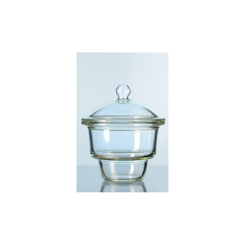 Desiccator glass 200 mm base flat flage without notes with knob