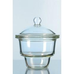 Eksykator szklany wielkość 250 mm z pokrywką z uchwytem szklanym