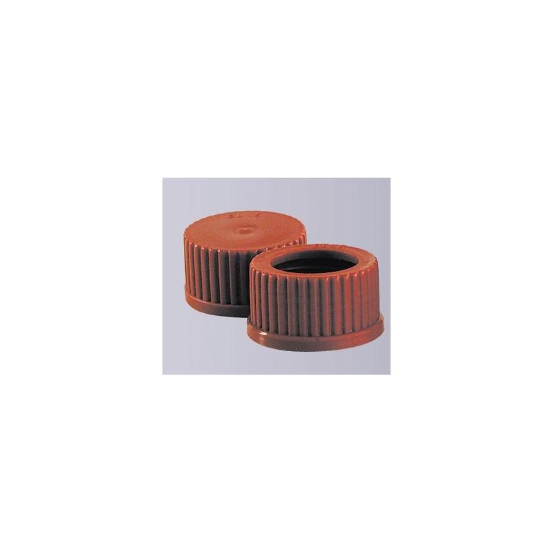 Schraubkappe GL14 PBT rot Temperaturbeständigkeit 180°C mit