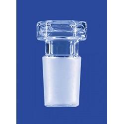 Hexagonal hollow stopper glass flat bottom NS14/23 pack 10 pcs.
