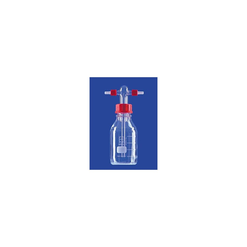 Gas washing bottle acc. to Drechsel 500 ml with screw