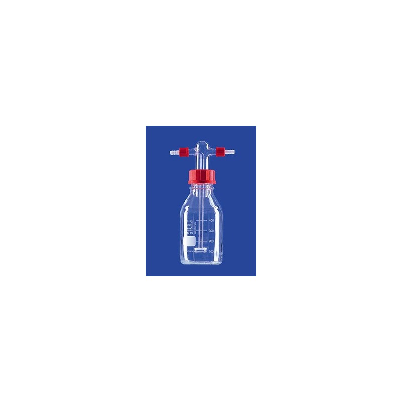 Gas washing bottle acc. to Drechsel 500ml with screw