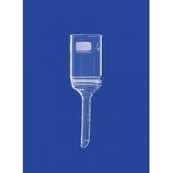 Lejek ze spiekanym dyskiem 125 ml szkło porowatość 1 płytka