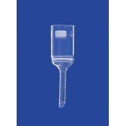 Filter funnel 50 ml glass Porosity 3 Filter plate 35 mm