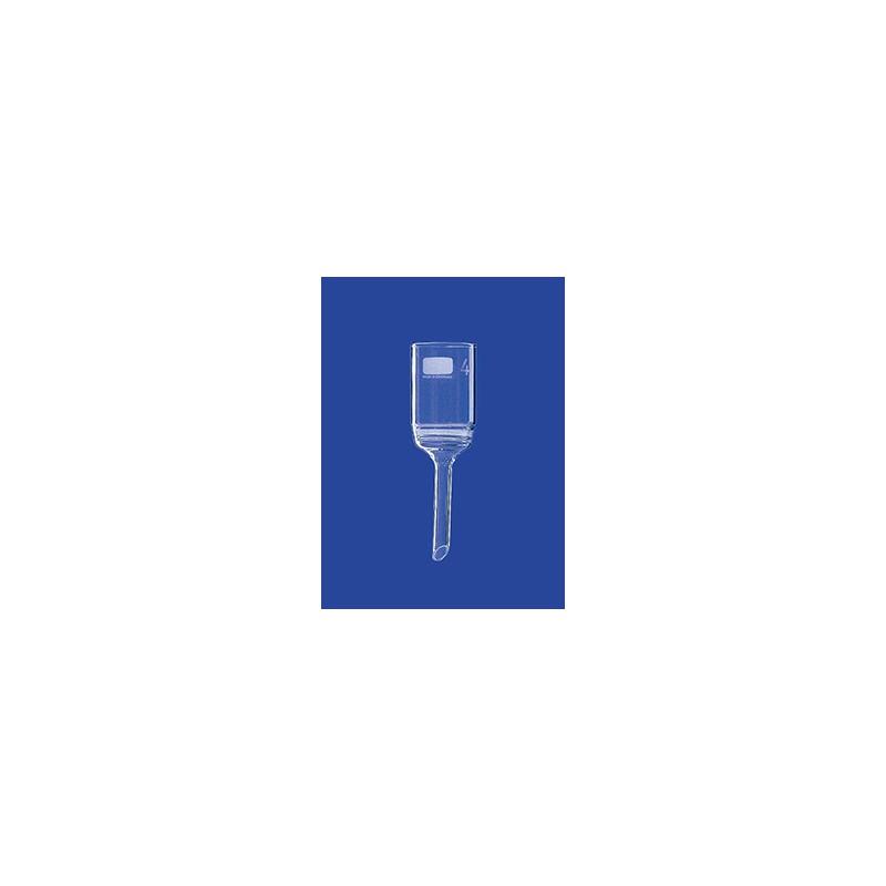 Filter funnel 125 ml glass Porosity 4 Filter plate 60 mm