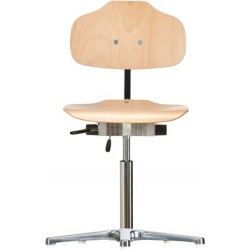 Chair with glides Classic WS1010 seat/backrest with wooden